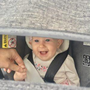 4 Month Old Baby Eileah at Tinley Park Farmers Market