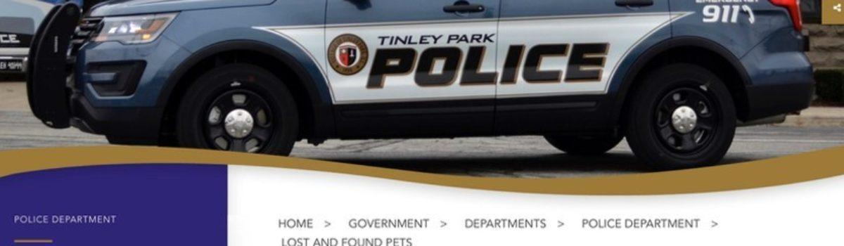 New Lost and Found Pets Page on Village of Tinley Park Website
