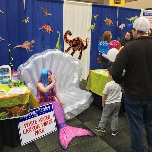 White Water Canyon Mermaid Photo Op at Discover Tinley 2019