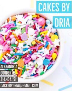 Cakes by Dria Contact Poster