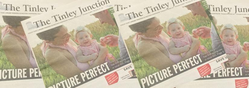 Eileah Pyrzynski Makes The Front Page Of The Tinley Junction Newspaper