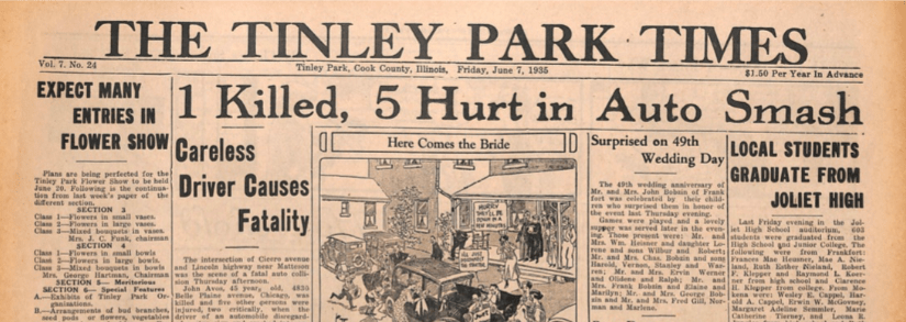 Tinley Park Times – June 7, 1935 – Old Newspaper Archive