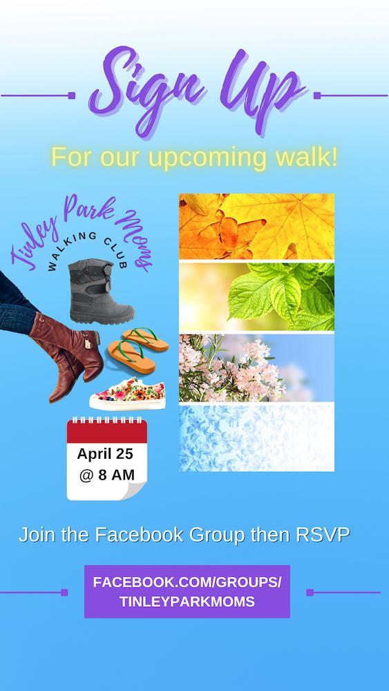 Tinley Park Moms Walking Club April 25 2021